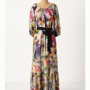 Anthro Meadow Rue Autumn Bulbs Maxi Dress